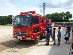 消防車の試乗