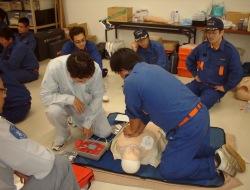 応急手当講習の実技