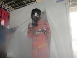 呼吸器着装訓練