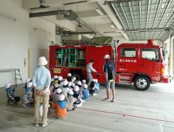消防車両の見学