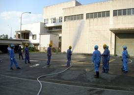 衛生組合職員放水訓練1