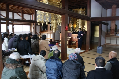 東郷消防署長による防災講話