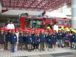 消防車を見学しました