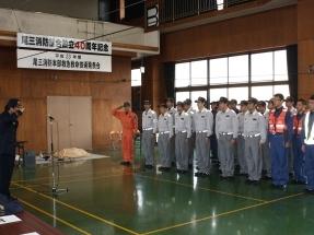 発表会は、屋内訓練場で実施しました。