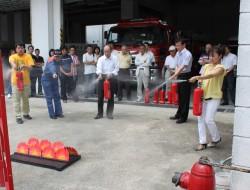 消火器の取り扱い訓練