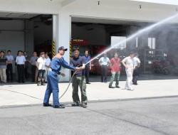 消火栓取扱訓練