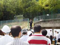 羽根田予防課長が本日の訓練を講評しました