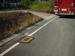 消火栓の多くは道路に埋設されています
