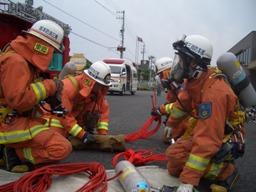 東郷消防署隊員